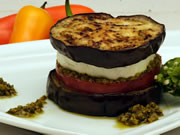 Aubergine sandwich with Fresh Goat Cheese