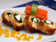 Chicken breasts with spinach and Fresh Goat Cheese filling